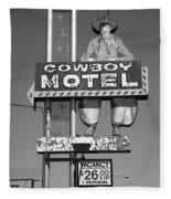 Route 66 - Cowboy Motel Fleece Blanket
