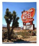 Route 66 - Hill Top Motel Fleece Blanket