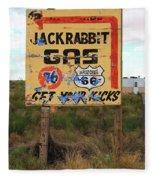 Route 66 - Jack Rabbit Trading Post Fleece Blanket