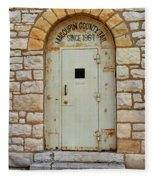 Route 66 - Macoupin County Jail Fleece Blanket
