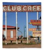Route 66 - Santa Rosa New Mexico Fleece Blanket
