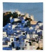 Serifos Town Fleece Blanket