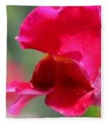 Snapdragon Named Red Chimes Fleece Blanket