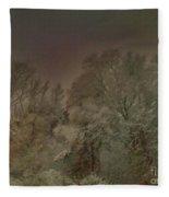 Snowy Night Fleece Blanket
