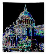 St Pauls Cathedral London Art Fleece Blanket