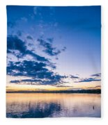 Sunset At Lake Wylie Fleece Blanket
