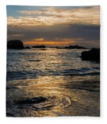 Sunset At Pismo Beach Fleece Blanket