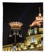 The Bund, Shanghai Fleece Blanket