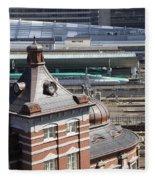 Tokyo Station Fleece Blanket