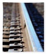 Train Track Fleece Blanket
