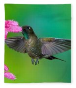 Tyrian Metaltail Fleece Blanket