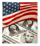 Usa Finance Fleece Blanket
