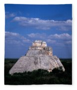 Uxmal Ruins Fleece Blanket