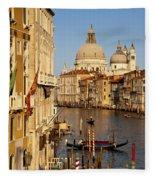 Venice Grand Canal Fleece Blanket