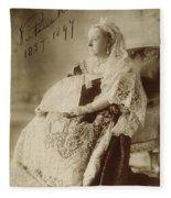 Victoria Of England (1819-1901) Fleece Blanket