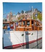 Victoria Wooden Boat Show Fleece Blanket
