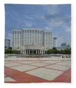 View From Peoples Park, Shanghai Fleece Blanket