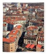 View Of Turin Fleece Blanket
