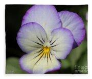 Viola Named Sorbet Lemon Blueberry Swirl Fleece Blanket