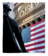 Wall Street Flag Fleece Blanket