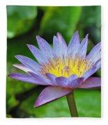 Water Lily 13 Fleece Blanket