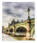 Westminster Bridge London Fleece Blanket