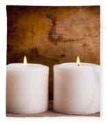 White Candles Fleece Blanket