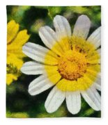 Wild Daisies Fleece Blanket