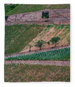 Wine Of Rhine Fleece Blanket