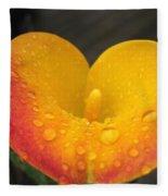 Zantedeschia Named Flame Fleece Blanket