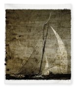 40 Sailboat - With Open Wings In A Grunge Background  Fleece Blanket