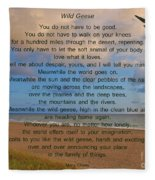 40- Wild Geese Mary Oliver Fleece Blanket