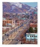 400 S Salt Lake City Fleece Blanket