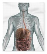 The Digestive System Fleece Blanket