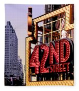 42nd Street New York City Fleece Blanket