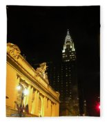 42nd Street Night Fleece Blanket