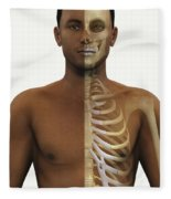 Bones Of The Upper Body Fleece Blanket