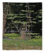 44- Alligator - Great Blue Heron Fleece Blanket