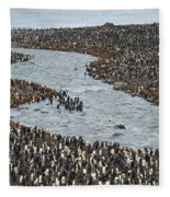 King Penguins Fleece Blanket