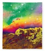 Space Landscape Fleece Blanket