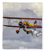 450 Hp Stearman Fleece Blanket