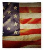American Flag Fleece Blanket