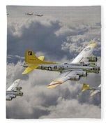 487th Bomb Group Fleece Blanket