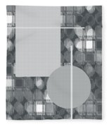 49th Shade Of Gray Fleece Blanket