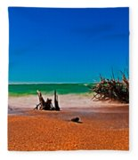 4x1 Florida Beach Panorama 732 Fleece Blanket