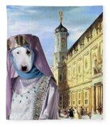 Bull Terrier Art Canvas Print Fleece Blanket