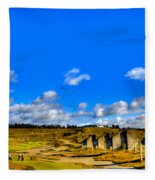 #18 At Chambers Bay Golf Course  Fleece Blanket