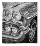 1958 Chevrolet Bel Air Impala Painted Bw  Fleece Blanket