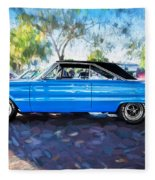 1967 Plymouth Belvedere Gtx 440 Painted  Fleece Blanket