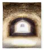 Light At The End Of The Tunnel Fleece Blanket